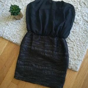 Strapless Black Wet Seal Dress
